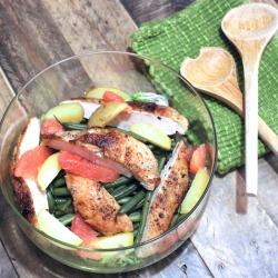 Hericot Vert with Chicken and Grapefruit
