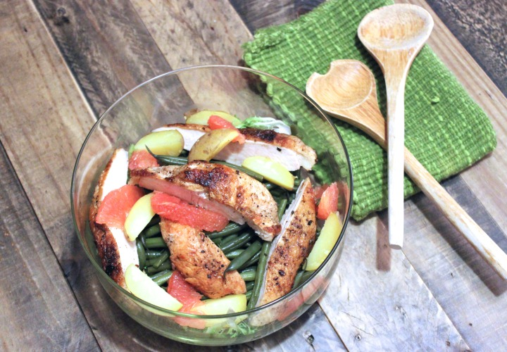 Hericot Vert Salad with Chicken and Grapefruit